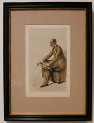 Vanity Fair Color Engraving of a Gentlemen