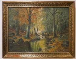 Vintage Original Oil on Canvas By H. Hahn