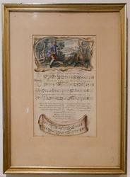 Vintage Engraving Music Score