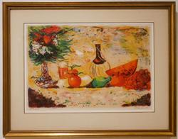 Beautiful Still life lithograph in color by B.Herbert