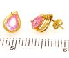Dazzling Pink CZ Post Earrings in Gold