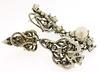 18KT Gold Diamond & Pearl Convertible Dangle Earrings