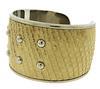 Tod's Leather Stud Cuff Bangle