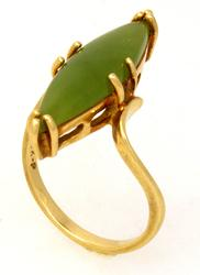 Fantastic Jadeite Ring in Gold, Size 6.5