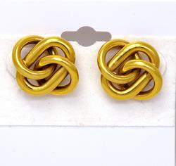 Intricate Gold Knot Post Earrings