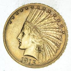 1915-S $10.00 Indian Head Gold Eagle - Rare