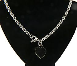 Heart Charm Necklace in Sterling Silver