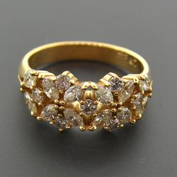 1.25 CTW Diamond Band in 18kt Solid Gold