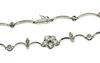 Dazzling 14kt Diamond Flower Necklace