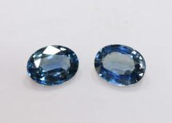 Bright Blue Natural Sapphire Pair
