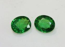 Natural Tsavorite Pair - 1.92 ct.
