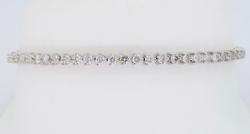 18K White Gold Martini Style Diamond Bracelet