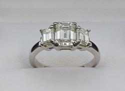 Emerald Cut 2.5+CT Diamond Ring in Platinum