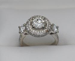 18kt Gold Diamond Halo Ring