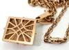 Outstanding 14K Rose Gold Necklace and Diamond Pendant