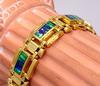 Men's Heavy 14K Gold Opal Filled Bracelet