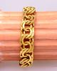 Men's 18K Gold Double Curb Link Bracelet, 9in