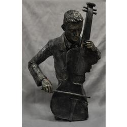 Cello Player Jazz Orchestra Poly Resin Statue