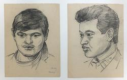VERY COLLECTIBLE PENCIL DRAWINGS ON PAPER BY KORNEEV