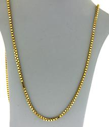 18KT Solid Yellow Gold Box Chain