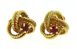 18kt Ruby Knot Earrings