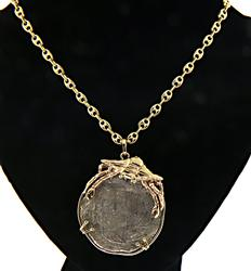 Authentic 17th Century Spanish Silver Coin Pendant