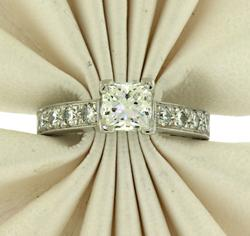 Fancy Platinum 1.52ctw Diamond Ring