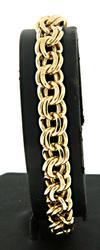 Chic 14kt Double Link Charm Bracelet