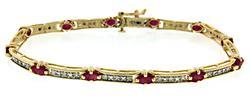 Sophisticated 14kt Ruby & Diamond Bracelet
