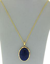 Large 14kt Lapis Lazuli Pendant