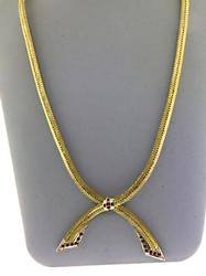 Dramatic 18kt Ruby Bow Necklace