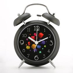 4in Twin Bell Clock Series Retro Metal Style Clock Home