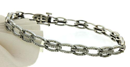 Polished 14kt Diamond Bracelet