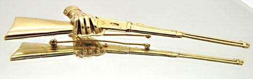 SID BURNS ORIGINAL HANDCAST 14 KT YELLOW GOLD