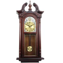 Bedford Clock Collection 38in Grand Antique Chiming Wall Cloc