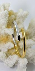 High End Two-Tone Hinged 18K Bangle