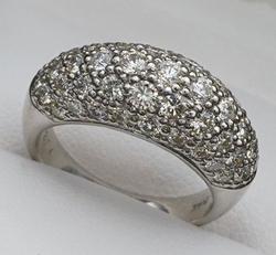 Dazzling Platinum 2+ Carat Diamond Band