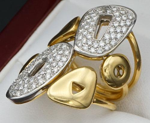 Unique 18kt Gold & Diamond Cocktail Ring