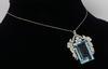 Platinum GIA Certified Aquamarine and Diamond Necklace