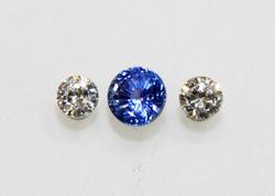 Natural Sapphire and Diamond - Set of 3
