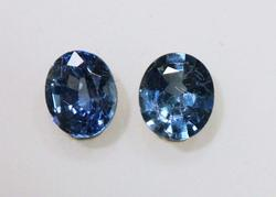 Bright Natural Sapphire Pair - 1.65 cts.