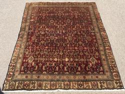 Charming Rare 1940s Handmade Fine Vintage Persian Senneh