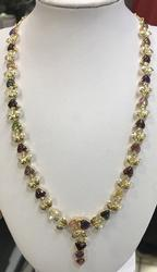 Amazing 18kt Solid Gold Sapphire and Diamond Necklace!!!