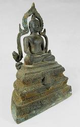 Antique Asian Buddha Meditating on Nirvana
