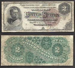 $2 1886 Silver Certificate Hancock.