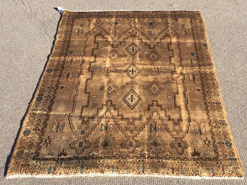 Decorative Handmade Mid Century Vintage Persian Gorg-Heydar