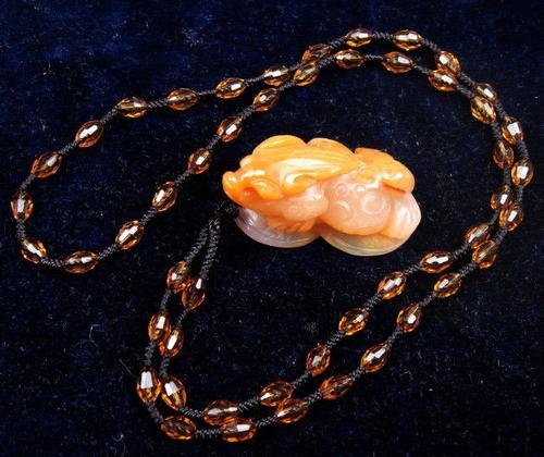 Jade Stone Nephrite Hand Carved Pendant Necklace