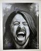 Dave Grohl Signed 24x30.5 Hand Painted Canvas Custom Pa