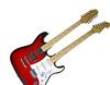AC/DC ACDC Angus Young Autographed Double Neck 18 Strin