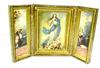 Vintage Italian Florentine Assumption Triptych